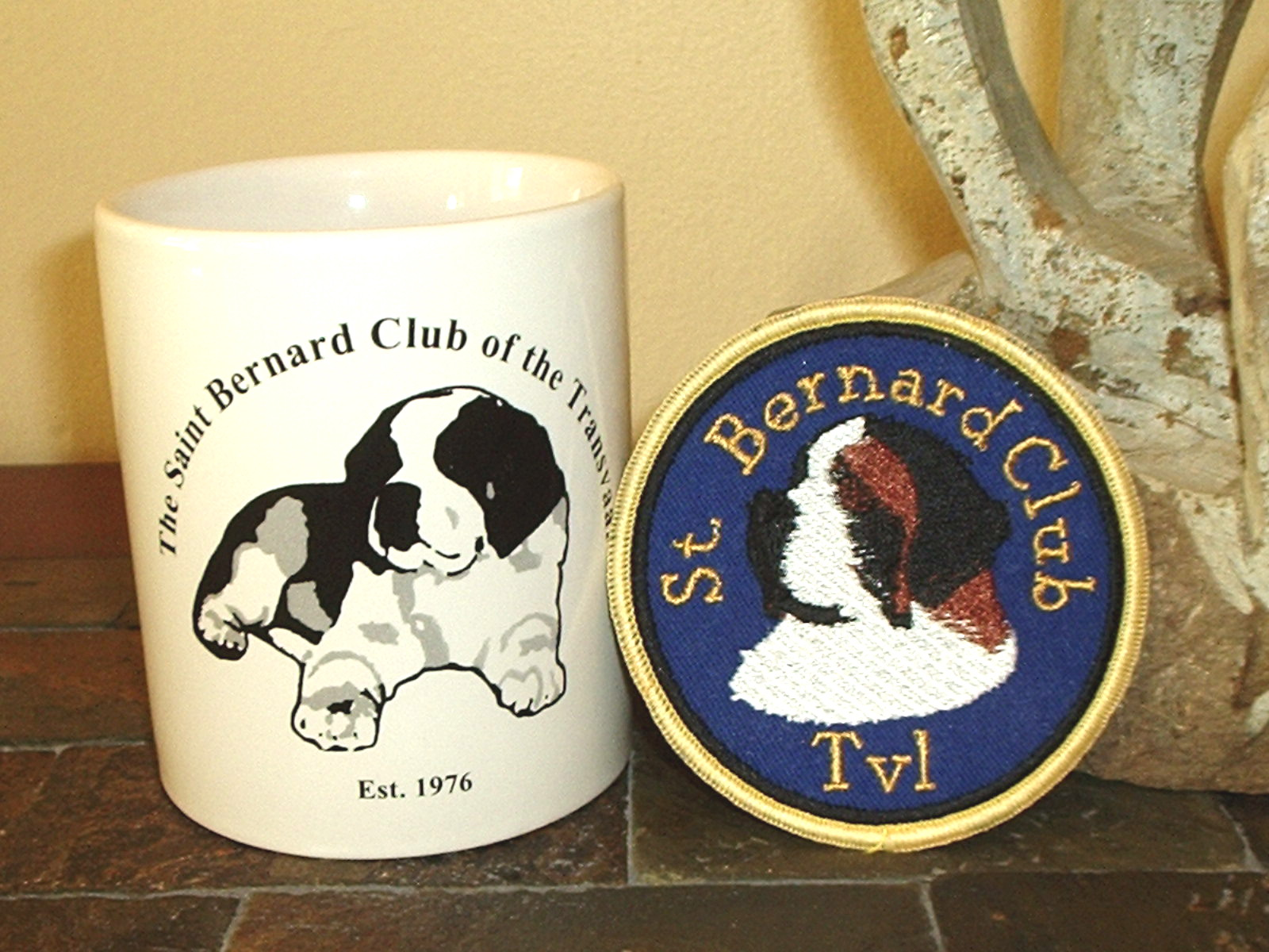 Badge and cup