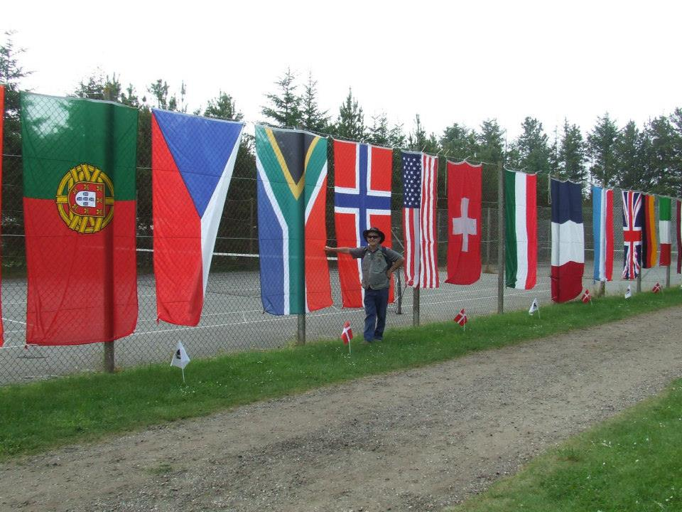 The South African Flag at WUSB in Sultum Strand Denmark